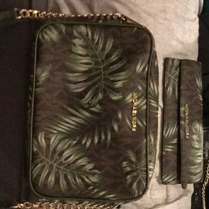 MK cross body with matching wallet
